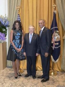 Raul Castro och Barack Obama